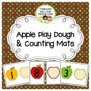 Apple Playdough Math Mats for Preschool and Kindergarten
