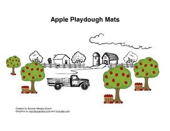 Apple Playdough Mats
