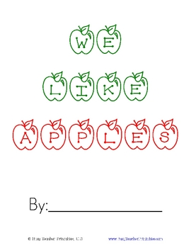 Apple Pocket Chart Activity and Class Book