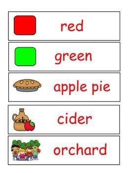 Apple Pocket Chart Words Word Wall
