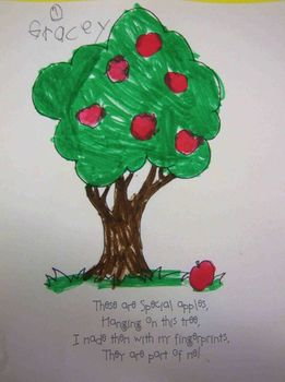 Apple Poem Finger Paint