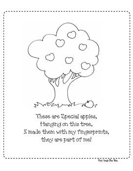 Apple Poem Finger Paint