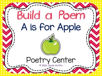 Build a Poem ~ A is for Apple