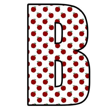 ~DOWNLOADABLE~Apple Polka Dot Letters