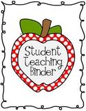 Apple Polka Dot Student Teaching Binder