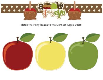Apple Pony Bead Sorting Mat