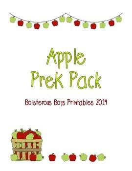 Apple PreK Printable Learning Pack