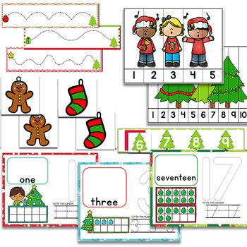 Christmas Math & Literacy Centers for Pre-K/Preschool BUNDLE