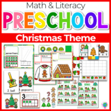 Preschool/ Pre-k Math & Literacy Centers | Christmas Theme
