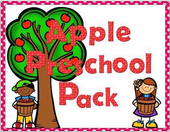 Apple Preschool Theme Pack