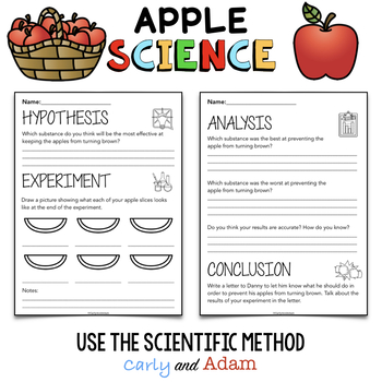 Apple Browning Science Experiment Autumn Fall STEM Activity