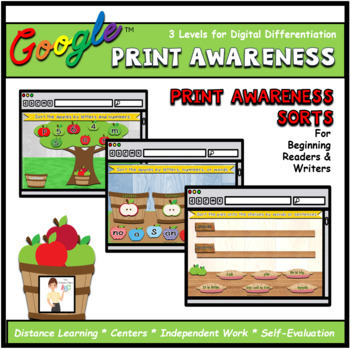 Apple Print Awareness Sorts Interactive ELA Digital Google™ Resource