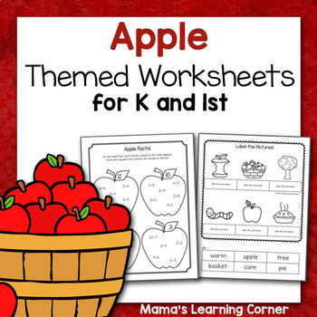Apple Printables for Kindergarten and First Grade