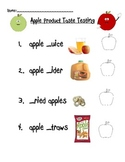 Apple Product Taste Testing and Graphing