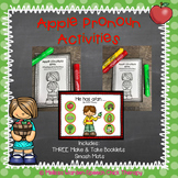 Apple Pronoun Activities for Speech Therapy