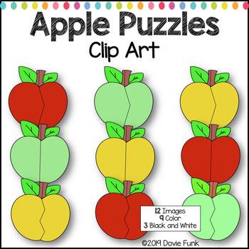 Apple Puzzles Clip Art