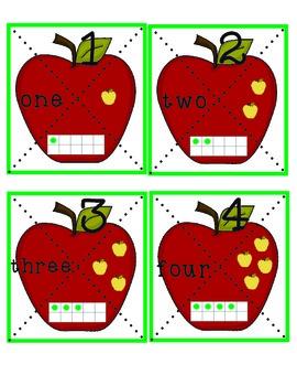 Apple Puzzles Math Center