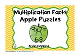 Apple Puzzles Multiplication Facts