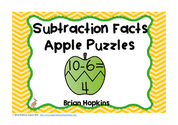 Apple Puzzles Subtraction Facts