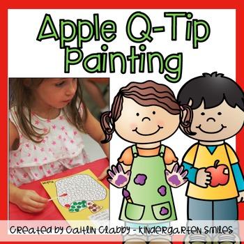 Apple Q-tip Painting