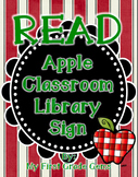 Apple READ Classroom Library Sign