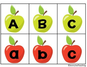 Apple Reading and Math Centers
