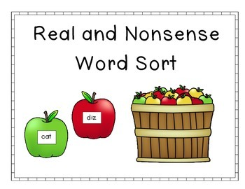 Apple Real and Nonsense Word Sort