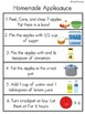 Apple Recipe FREEBIE for Early ed and special education