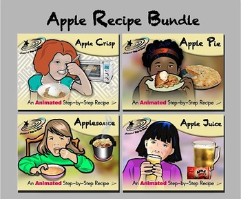 Apple Recipes Bundled - Animated Step-by-Step Recipes