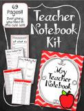 Apple Red Teacher Notebook. Binder. Planner Arc Notebook. Lesson Plan Calendar