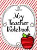 Apple Red Teacher Notebook. Binder. Planner Arc Notebook.