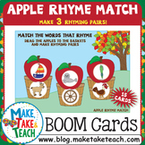 Boom Cards - Apple Rhyme Match with 3 Rhyme Matches