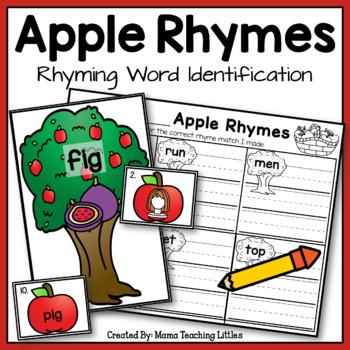 Apple Rhymes - Rhyming Word Identification