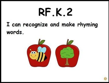Apple Rhyming: An Activer Board Center (RF.K.2)