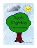 Apple Rhyming- a matching game