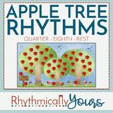 Rhythm Reading Game - Apple Tree - Quarter Eighth Rest Zee