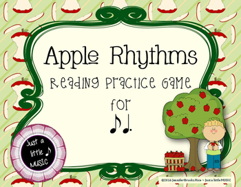 Apple Rhythms - Interactive Reading Practice Game {ti tom}