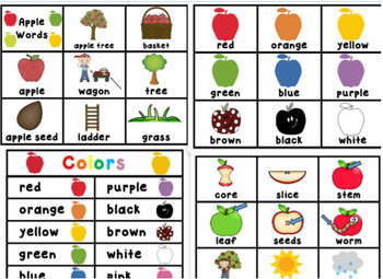 """Apple """"Roll, Say, Keep!"""" 1st Grade Dolch Sight Word Center + Extras"""