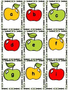 Apple Roll, Say, Keep Letter and Beginning Sounds