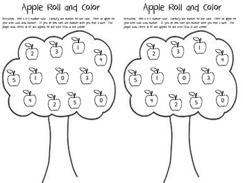 Apple Roll and Color 0-5