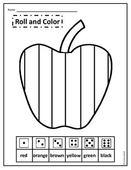 Apple Roll and Color Freebie