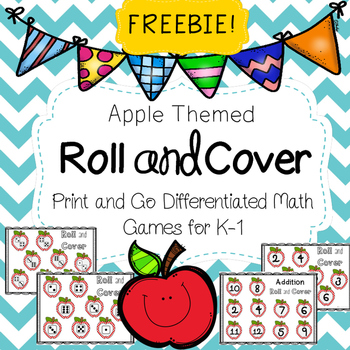 Apple Roll and Cover Math Game