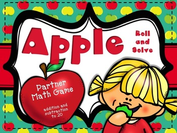 Apple Roll and Solve: Partner Game for Addition and Subtra