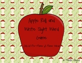 Apple Roll and Write Sight Word Game