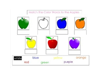 Apple & Autumn basic skills SMART notebook for Autism and Early Childhood