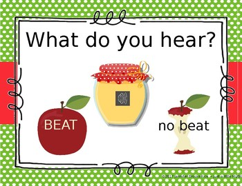 Apple Sauce - An interactive game for recognizing beat vs no beat
