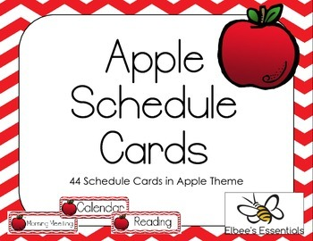 Apple Schedule Cards