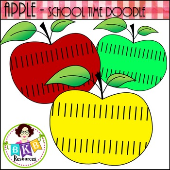 Apple - School Time Doodle {Graphics for Commercial Use}