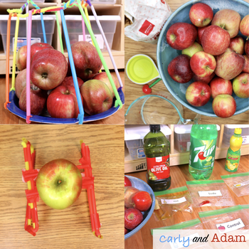 Apple Science Experiments and Autumn STEM Activities and Challenges BUNDLE