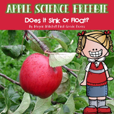 Apple Science Freebie: Sink or Float?